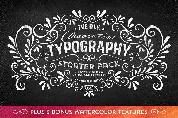 DIY Decorative Typography Pack by Callie Hegstrom on @creativemarket
