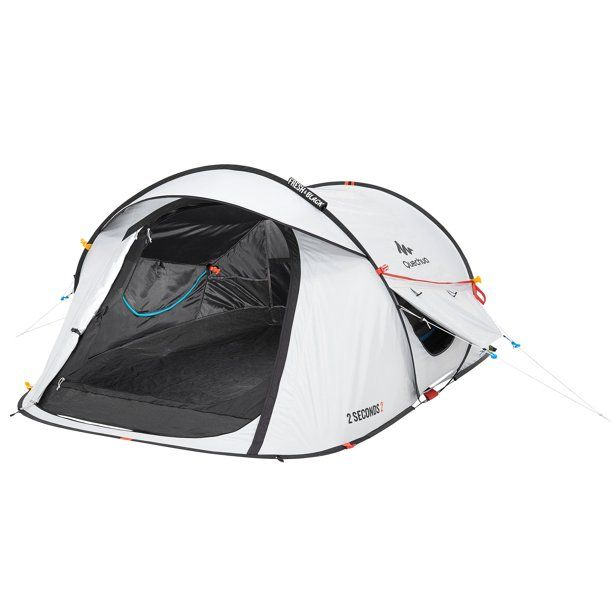 Quechua By Decathlon Camping Tent 2 Second Fresh Black 2 Person Pop Up White Walmart Com Tent Camping Tent Camping Gazebo
