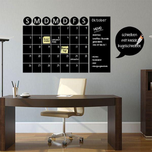 Tafel Kalender Wandplaner Aufkleber von Smileywalls auf DaWanda.com