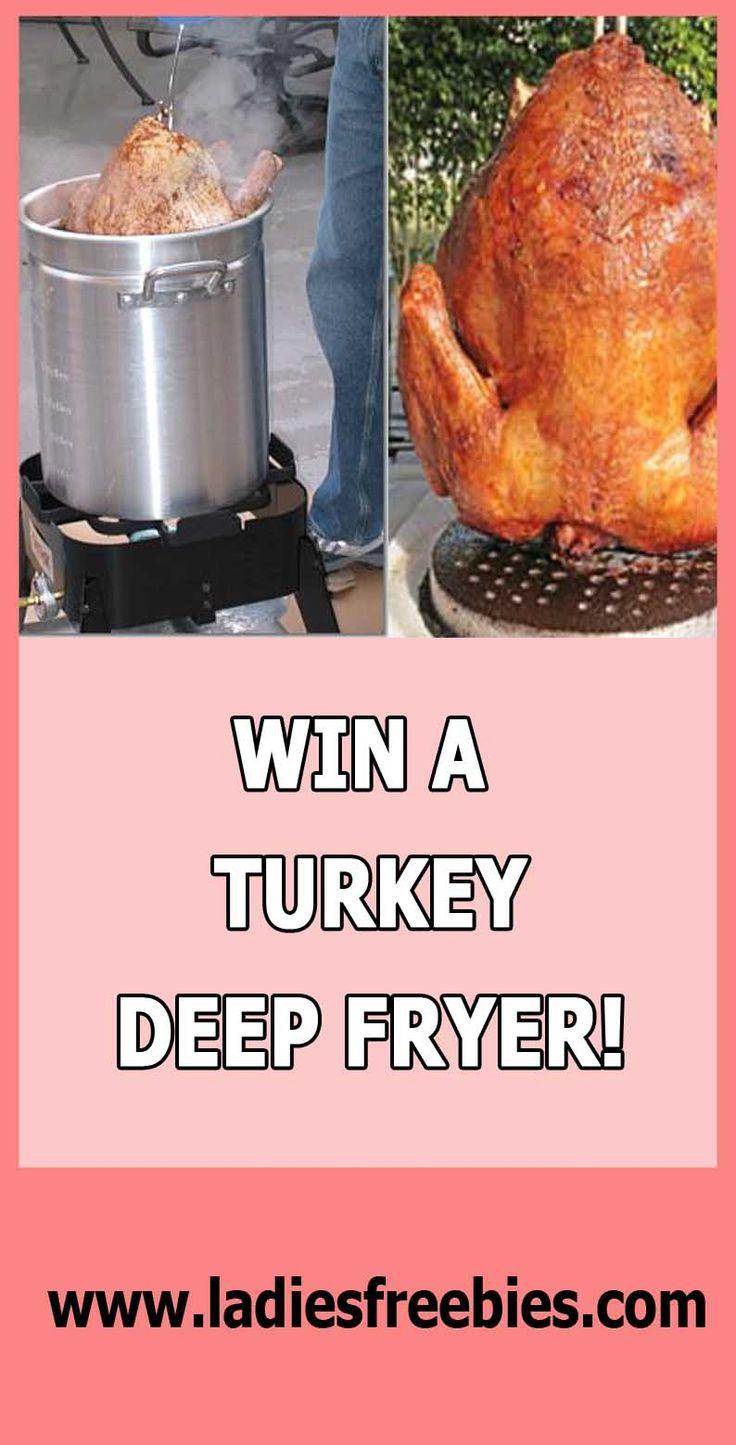WIN A 30 QUART TURKEY DEEP-FRYER on ladiesfreebies.com! Thanksgiving is coming LADIES! :) PREPARE!!! #thanksgiving #turkey #deepfryer #sweepstakes #giveaway