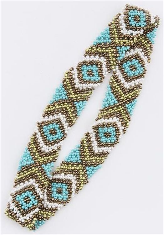aztec beaded headband nook boutique