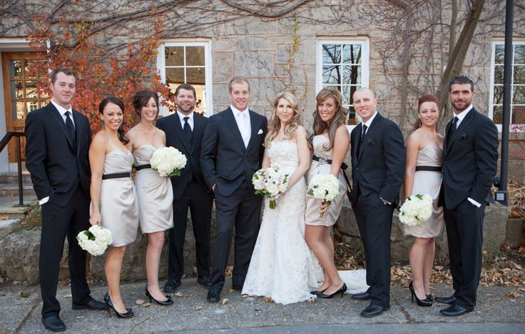 Ancaster Mill wedding party