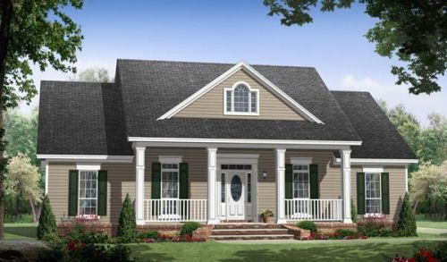 HousePlans.com 21-255: Farms Houses, Floors Plans, Home Plans, Dreams Houses, 2 5 Bathroom, Garage, Houses Plans, Bonus Rooms, House Plans