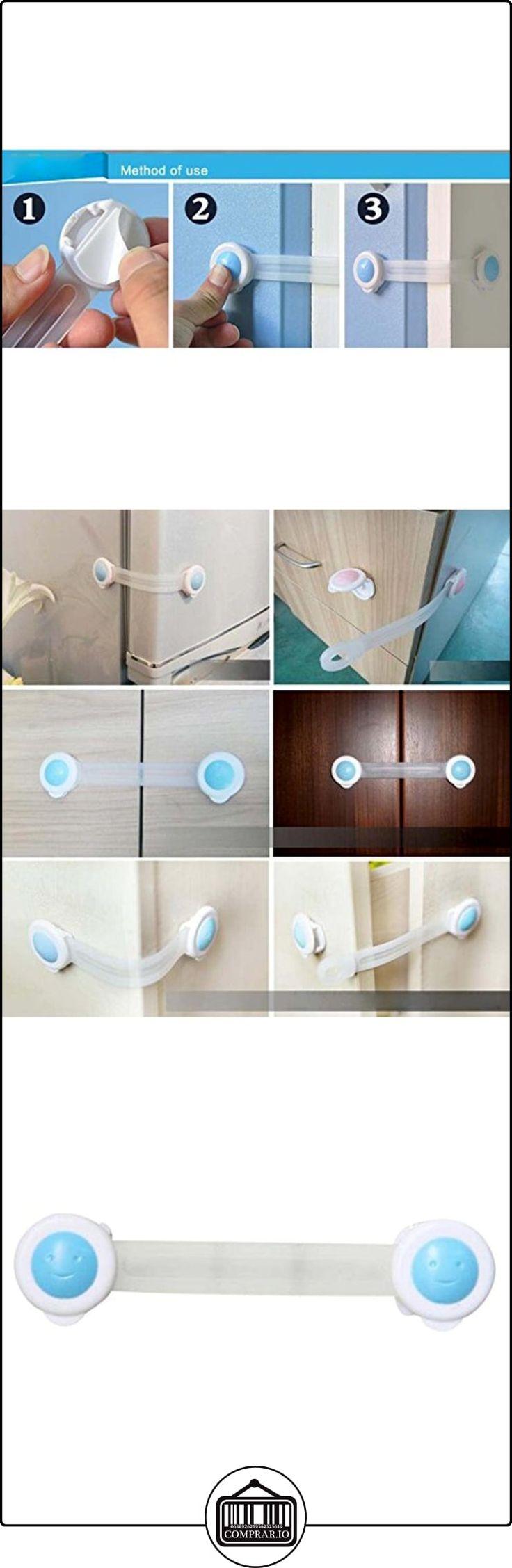 Highdas Child Proof Gabinete Cajonera Refrigerador Asiento de inodoro Cerraduras de seguridad Cerraduras para bebés Blue 6 Packs  ✿ Seguridad para tu bebé - (Protege a tus hijos) ✿ ▬► Ver oferta: http://comprar.io/goto/B01MR41ZN2
