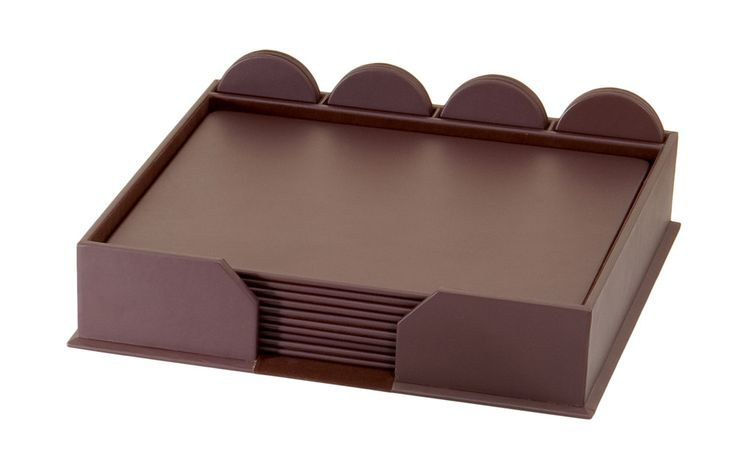 Dark Brown Bonded Leather 23-Piece Conference Room Set (Board Room Organizer)http://woodartsuniverse.com/catalog/product_info.php?products_id=487 #conferenceroomset #boardroomaccessories