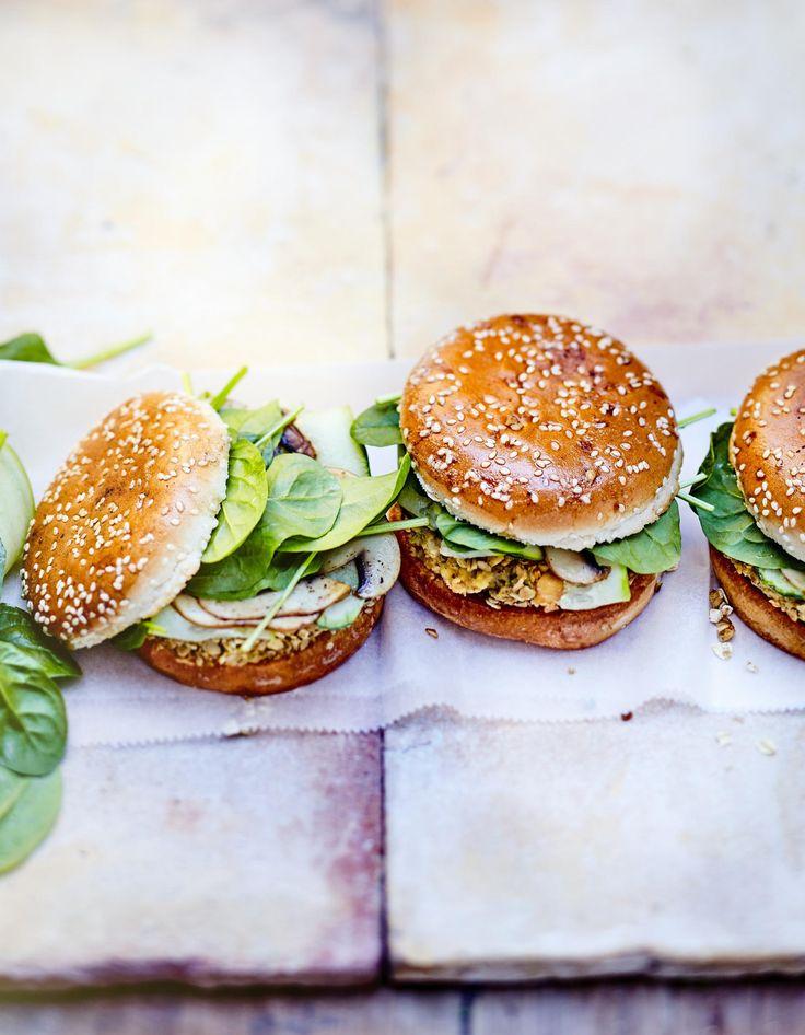 burger veggie pois chiche champignon avoine recette pique nique vegan burgers salmon. Black Bedroom Furniture Sets. Home Design Ideas