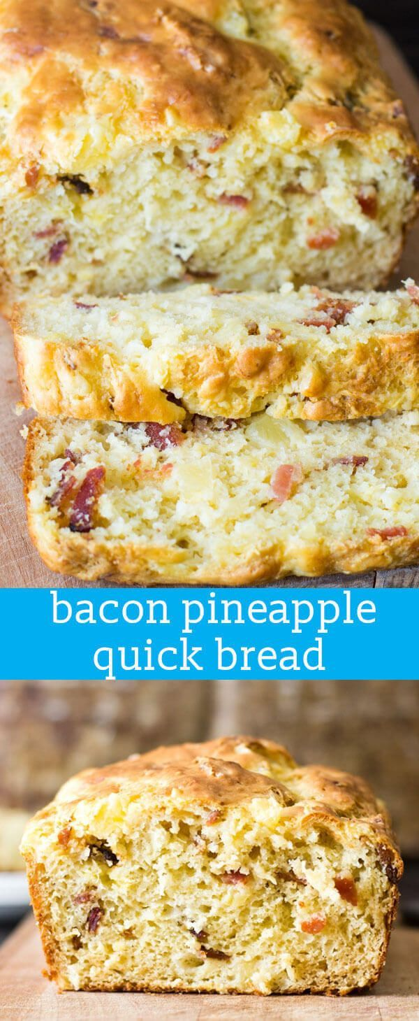 Bacon Pineapple Bread {Savory Quick Bread Recipe Perfect with Soup or Salad} bacon bread / bread with bacon / bread with pineapple / recipe via @tastesoflizzyt