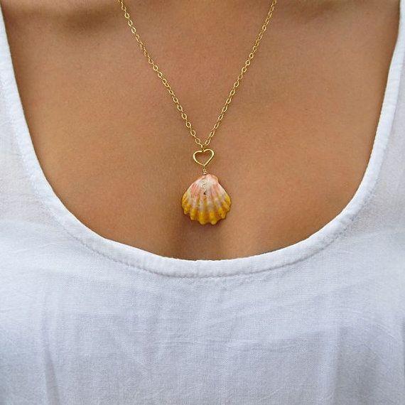 Sunrise Shell Necklace Hawaiian Shell jewelry by HanaMauiCreations, $130.00