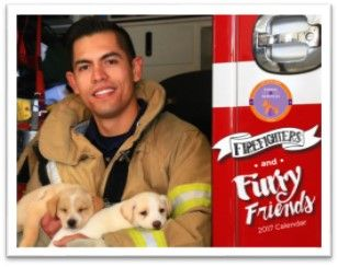 """Animal Services, EPFD for """"Firefighters and Furry Friends"""" Calendar"""