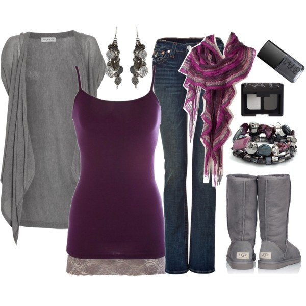 Purple Grey Outfit