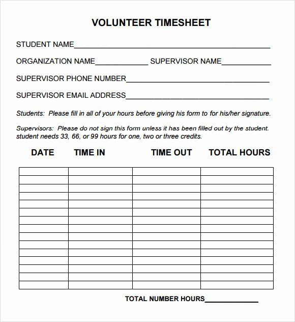 Community Service Hours Form Template Inspirational Free 10 Volunteer Timesheet Samples In Google Volunteer Application Community Service Hours Volunteer Hours
