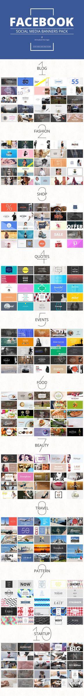 Massive Social Media Banners Pack #facebook #twitter #pinterest #instagram…