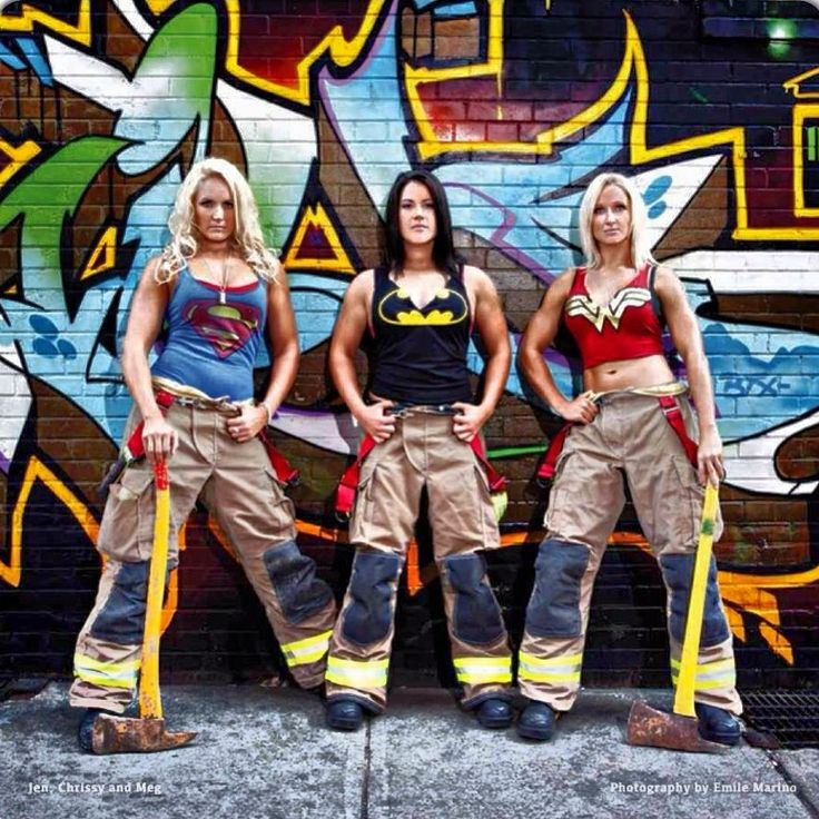 Super Sexy Firefighters! (I especially love Wonder Tummy over there.)