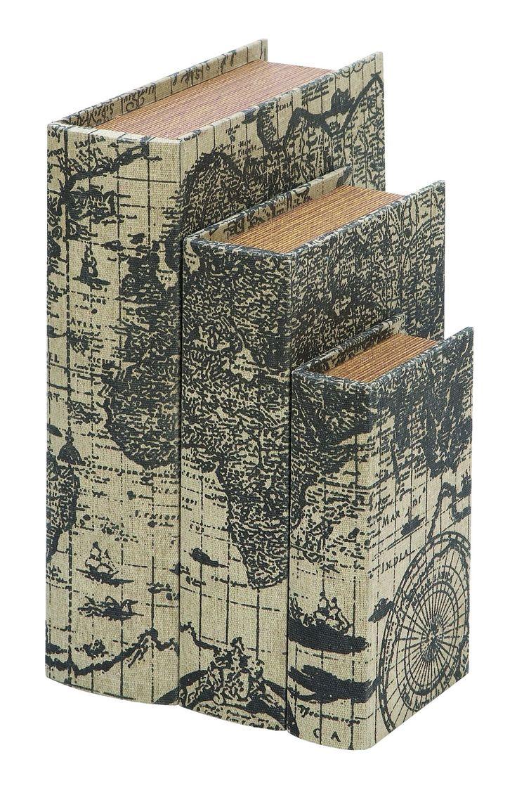 Ancient World Map 3 Piece Book Box Set