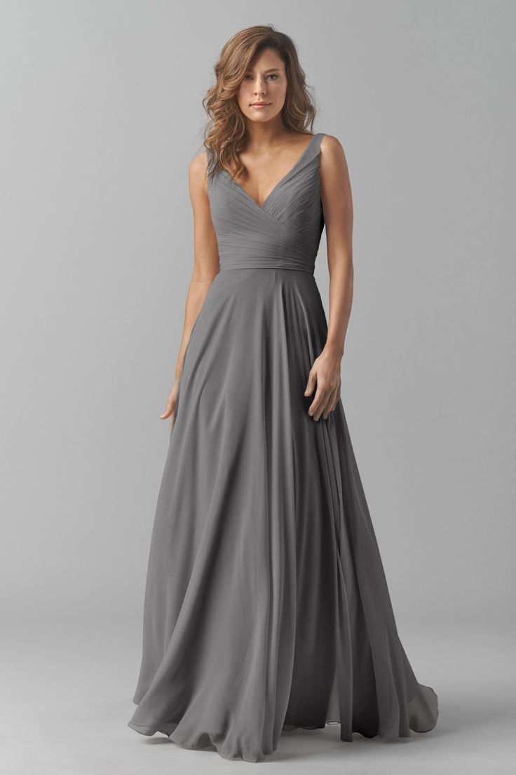 Best 25 grey dresses ideas only on pinterest long grey dress shop watters bridesmaid dress in crinkle chiffon at weddington way find the perfect made to order bridesmaid dresses for your bridal party in your ombrellifo Images