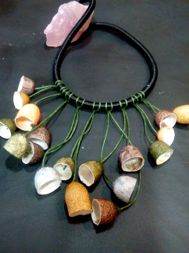 handmade silk cocoons jewelry - No85