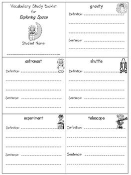 2nd Grade Reading Street Unit 1 Vocab Booklets Freebie School