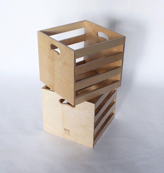 Baltské břízy Vinyl Record Storage Crate Pair