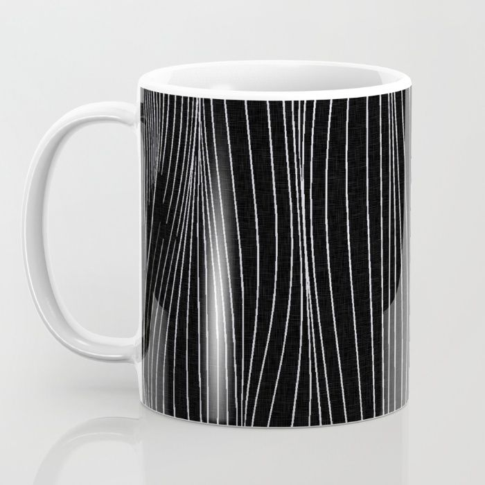 Strings, white lines on black pattern Free Worldwide Shipping on Everything + $5 Off Coffee Mugs & Phone Cases Today!