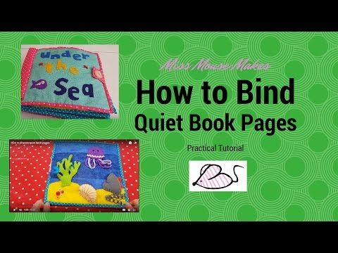 25 unique quiet book tutorial ideas on pinterest diy quiet how to prepare quiet book pages youtube pronofoot35fo Gallery