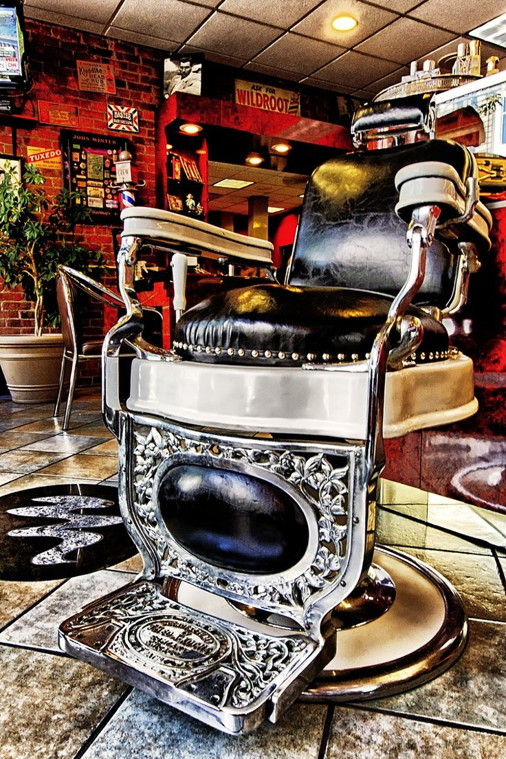 Barber Shop Manchester Nh : photograph montana vintage barber barber shop barber chair barbers ...