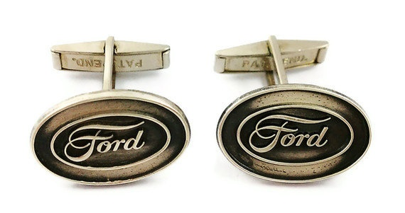 Vintage Sterling Silver Ford Sales Award Cuff Links by brooksbeads, $89.99