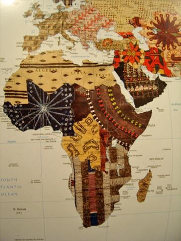 Just another artist creation using the shape of the Continent. Love the earthtone colors!
