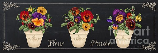 New print available on plout-gallery.artistwebsites.com! - 'Fleur Pensee-jp3013' by Jean Plout - http://plout-gallery.artistwebsites.com/featured/fleur-pensee-jp3013-jean-plout.html