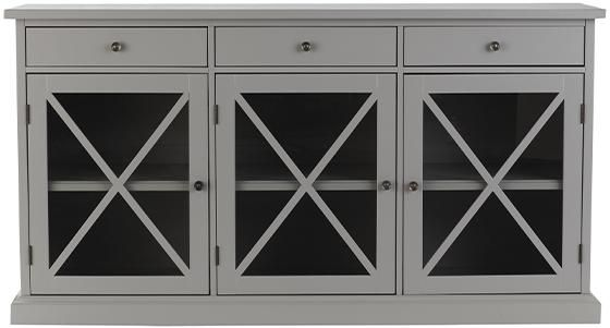 "HAMPTON SIDEBOARD a sideboard buffet that puts distinctive design front and center Size 33""Hx62""Wx18""D  Price $629.00"