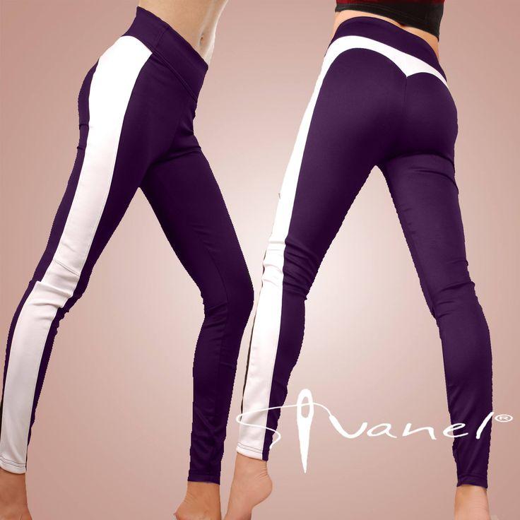 Yoga leggings / Fitness leggings / Jogging leggings / Ladies leggings / Long leggings with side strap / IVANEL / 28 colors S, M, L, XL, XXL http://etsy.me/2nE1DoL #clothing #women #pants #leggings #sportwear #yogaclothing #longleggings #shortleggings #fitnesclothing