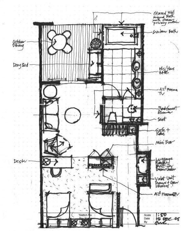 Hotel Room Plan: InterContinental Huizhou Resort (Study)
