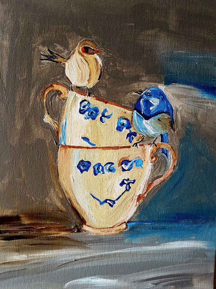 Tea for Two #painting by rmartin
