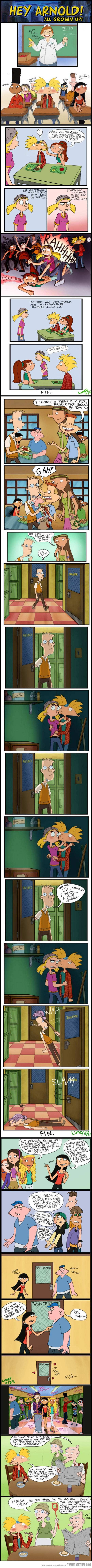 Hey Arnold characters as teenagers…meets Mean Girls @Mitchell Pavao Pavao Mashburn  This was kind of awesome lol
