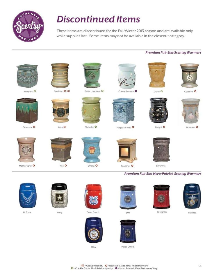 Discontinued Scentsy items from the spring/summer 2013 catalog....order before the end of August!