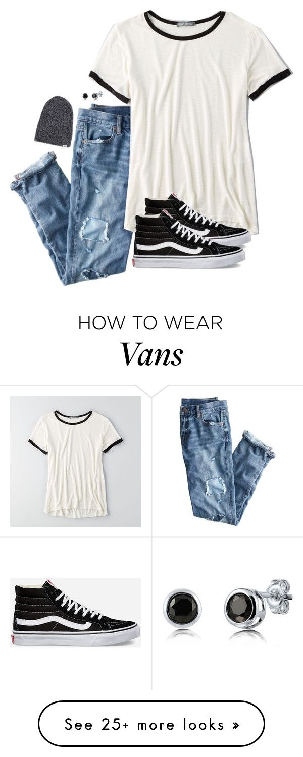 """on my authority"" by kenandsuch on Polyvore featuring J.Crew, American Eagle Outfitters, Vans and BERRICLE"