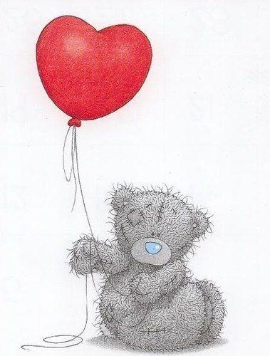Dessins tatouages nounours avec ballon coeur tatouage - Dessin nounours avec coeur ...