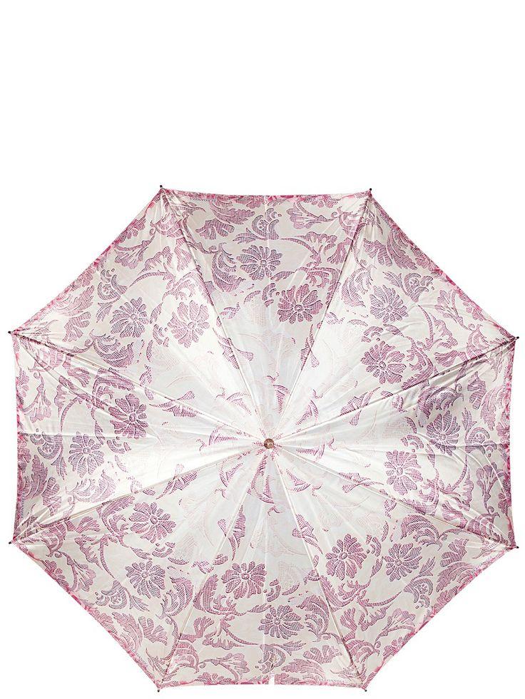 Зонт-трость Eleganzza. Цвет сиреневый, лиловый, бежевый.