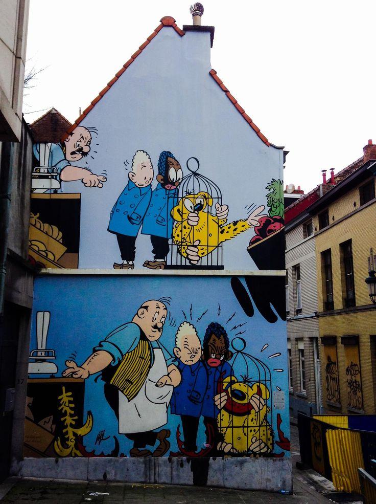 Bandes dessinees a Bruxelles par Xavier Merly