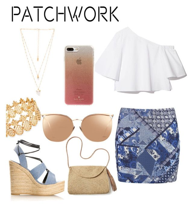 """""""patchwork"""" by geopaganeli on Polyvore featuring Boohoo, Yves Saint Laurent, Mar y Sol, Linda Farrow, INC International Concepts, Natalie B and Kate Spade"""