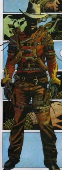 Hurricane (Harry Kane), created by Stan Lee and Dick Ayers, was an enemy of the Two-Gun Kid. Originally the leader of a bandit gang defeated by The Kid, he gained super speed from drinking an Indian shaman's potion, which enabled him to outdraw many of his opponents in a gun fight (first seen in Two-Gun Kid #70, 1964). He fought the Two-Gun Kid several times, but was ultimately defeated each time. Later, the time travelling West Coast Avengers battled Hurricane and the group of outlaws he…