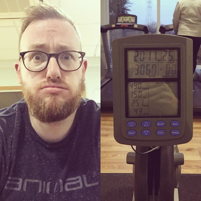 So tonight I tried the rowing machine after watching a programme on Channel 4 that said that the rowing machine is an overlooked gem of a workout. It was pretty hard going and I was sweating!! Cant say I hated it though. Anyone else row? Any tips? #fitness #gym #gay #gaygym #exercise #gayman #gaymale #gaydude #gaybear #gaycub #gaygeek #gaylife #gayfitness #gayselfie #bear #cub #scruff #beard #gaybeard #beardsofinstagram #rowingmachine #rowing #rower