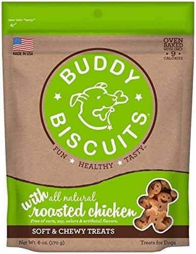 Cloud Star Soft & Chewy Buddy Biscuits Roasted Chicken Flavor Dog Treats, 6 ounce bag