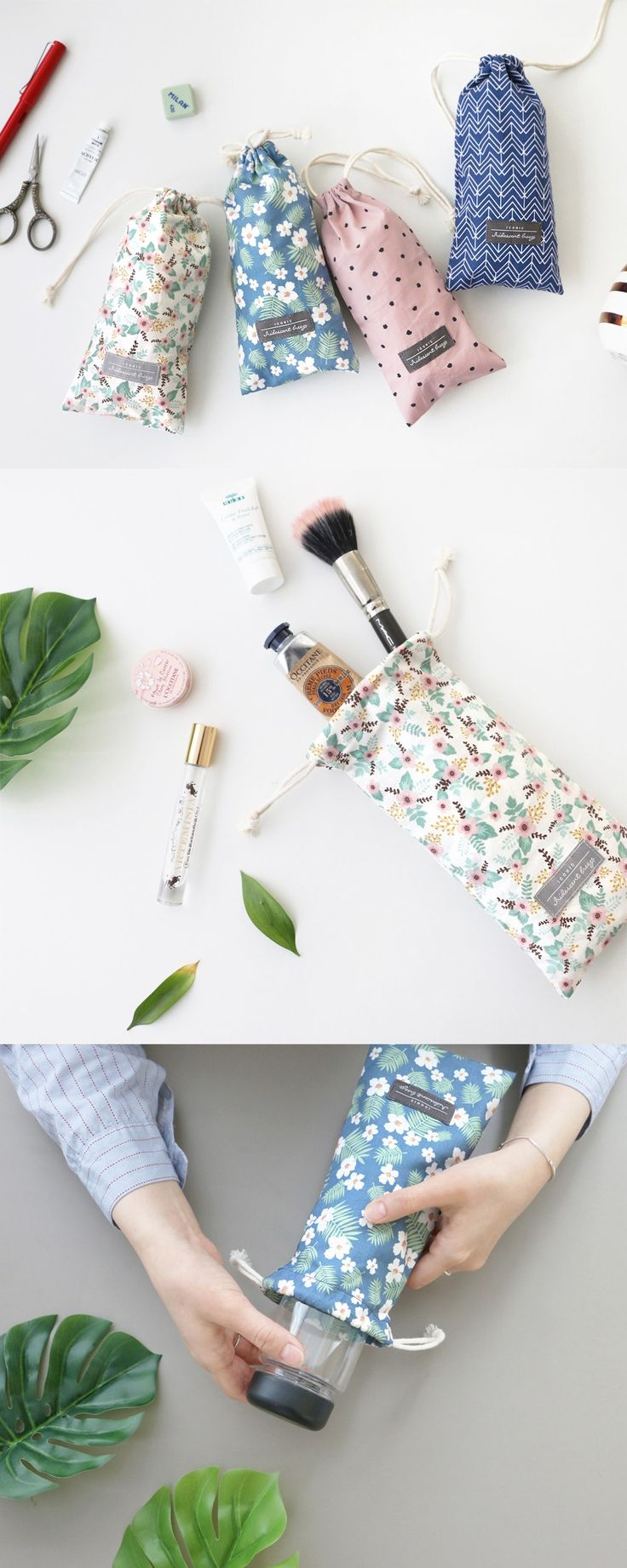 Your sunglasses might want a prettier house like the Comely Long Drawstring Pouch! With its long shape, you can store long shape items like glasses, toothbrushes, pens and even water bottles in this lovely pouch.
