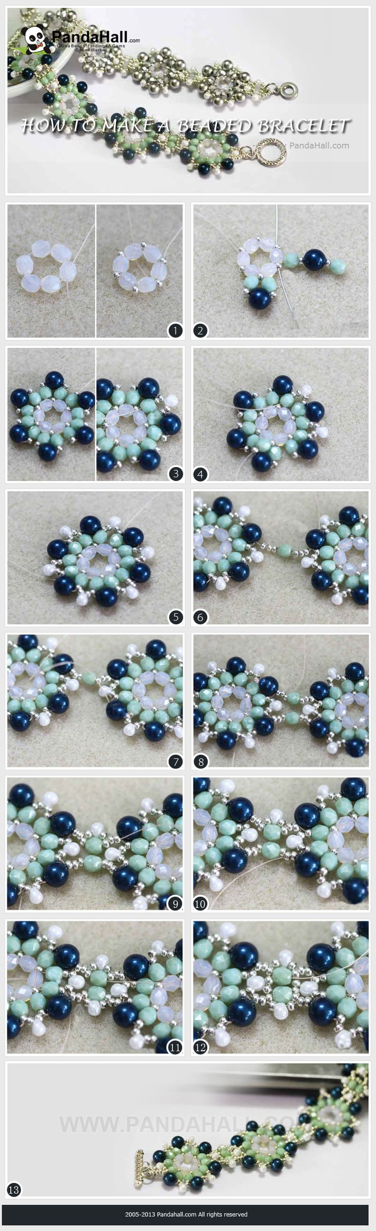 In the do it yourself bracelets tutorial, you will find out an efficient way on how to make a beaded bracelets that are extremely exquisite and highly adorable. The level is fitful for Beginner to Intermediate.