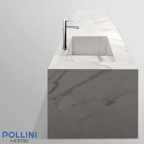 Ripiano in #ceramica stile marmo per arredare la #cucina.
