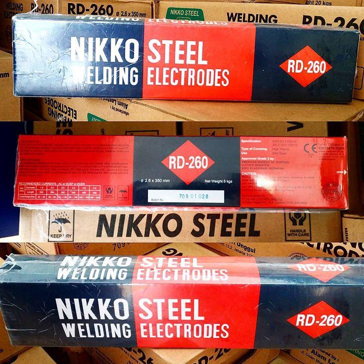 Nikko Steel Welding Electrodes RD 260 (2.6mm 3.2mm 4mm) AWS A5.1 E6013 #welding #kawatlas #nikkosteel #kawatlasjakarta #besilas #bengkellas