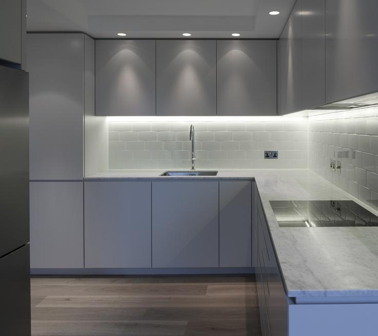 Tigg Coll Architects, Marble worktop - Thornbury Court Apartment