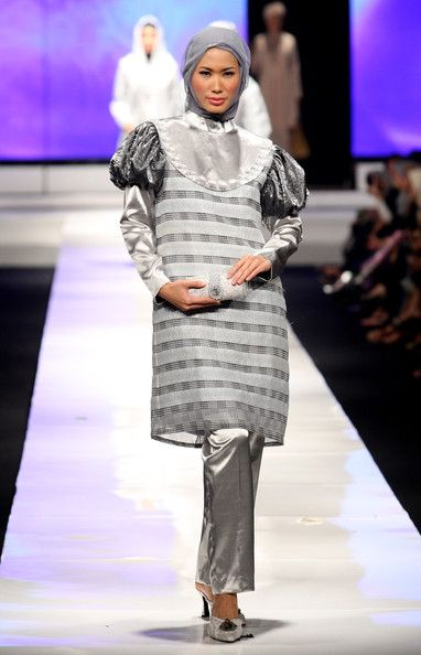 A model showcases designs on the runway by Anne Rufaidah as part of APPMI Show 3 on day three of Jakarta Fashion Week 2009 at the Fashion Tent, Pacific Place on November 16, 2009 in Jakarta, Indonesia.