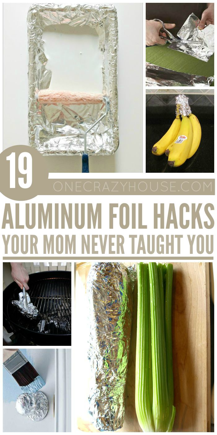 Aluminum foil... sharpens scissors, clean your grill, dry your clothes faster!  SO. MANY. HACKS!