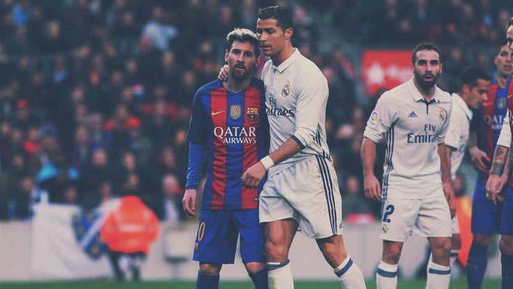 Lionel Messi et Cristiano Ronaldo Fc Barcelone vs Real Madrid 04 / 12 / 16 Liga Clàsico 10 / 7